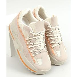 Buty sportowe beżowe LA181P Beige beżowy 1