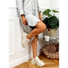 Buty sportowe beżowe LA182 Beige beżowy 2