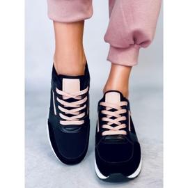 Buty sportowe na koturnie czarne P79 Black 3