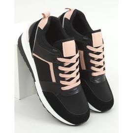 Buty sportowe na koturnie czarne P79 Black 1