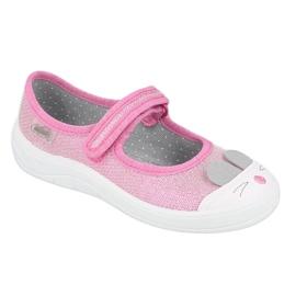 Befado obuwie dziecięce 208X045 różowe 1