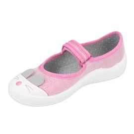 Befado obuwie dziecięce 208X045 różowe 2