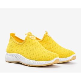 Żółte sportowe obuwie slip-on Marathon 1