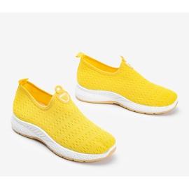 Żółte sportowe obuwie slip-on Marathon 2