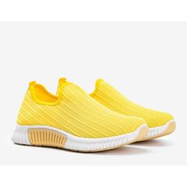 Żółte sportowe obuwie slip-on Roxy 1