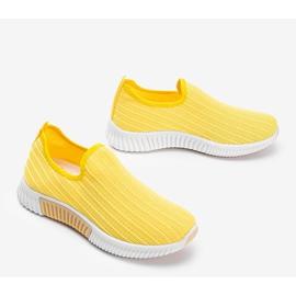 Żółte sportowe obuwie slip-on Roxy 2