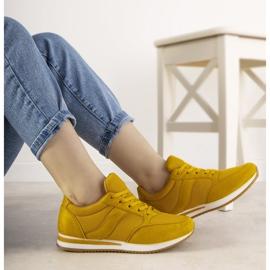 Musztardowe sneakersy sportowe Parila żółte 1