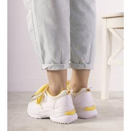 Białe sneakersy z żółtymi wstawkami Splitters żółte 2