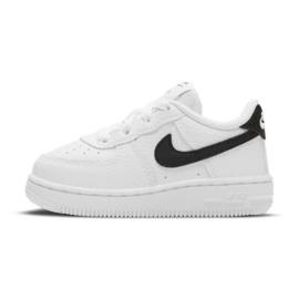 Buty Nike Force 1 Inf Jr CZ1691-100 białe czarne 1