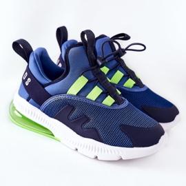 Dziecięce Sportowe Buty Sneakersy ABCKIDS Niebieskie 2