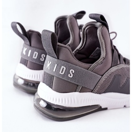 Dziecięce Sportowe Buty Sneakersy ABCKIDS Szare 4