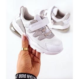 Dziecięce Sportowe Buty Na Rzep ABCKIDS Biało-Srebrne białe 1