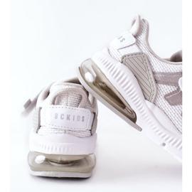 Dziecięce Sportowe Buty Na Rzep ABCKIDS Biało-Srebrne białe 5