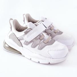 Dziecięce Sportowe Buty Na Rzep ABCKIDS Biało-Srebrne białe 2
