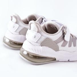 Dziecięce Sportowe Buty Na Rzep ABCKIDS Biało-Srebrne białe 4