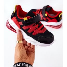 Dziecięce Sportowe Buty Na Rzep ABCKIDS Czarno-Czerwone czarne 6
