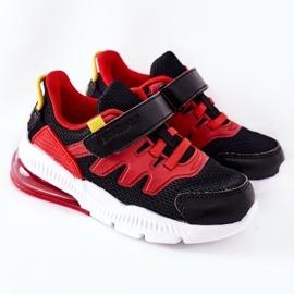 Dziecięce Sportowe Buty Na Rzep ABCKIDS Czarno-Czerwone czarne 2