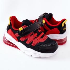 Dziecięce Sportowe Buty Na Rzep ABCKIDS Czarno-Czerwone czarne 1