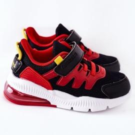 Dziecięce Sportowe Buty Na Rzep ABCKIDS Czarno-Czerwone czarne 3