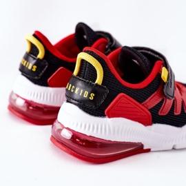 Dziecięce Sportowe Buty Na Rzep ABCKIDS Czarno-Czerwone czarne 4