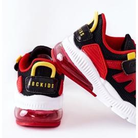 Dziecięce Sportowe Buty Na Rzep ABCKIDS Czarno-Czerwone czarne 5