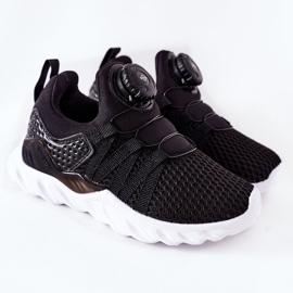 Dziecięce Sportowe Buty Z Pokrętłem ABCKIDS Czarne 2
