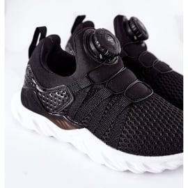 Dziecięce Sportowe Buty Z Pokrętłem ABCKIDS Czarne 7