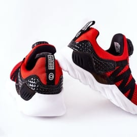 Dziecięce Sportowe Buty Z Pokrętłem ABCKIDS Czerwone czarne 1