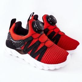 Dziecięce Sportowe Buty Z Pokrętłem ABCKIDS Czerwone czarne 2