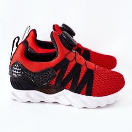 Dziecięce Sportowe Buty Z Pokrętłem ABCKIDS Czerwone czarne 3