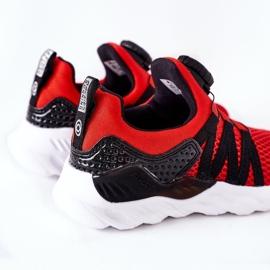 Dziecięce Sportowe Buty Z Pokrętłem ABCKIDS Czerwone czarne 4