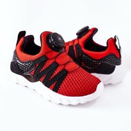 Dziecięce Sportowe Buty Z Pokrętłem ABCKIDS Czerwone czarne 5