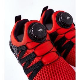 Dziecięce Sportowe Buty Z Pokrętłem ABCKIDS Czerwone czarne 7