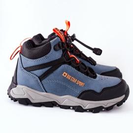 Dziecięce Buty Trekkingowe Big Star GG374048 Granatowe niebieskie 5