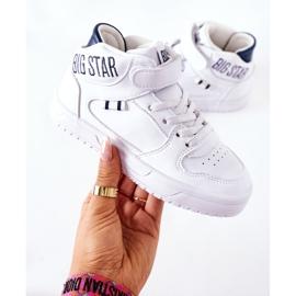 Dziecięce Sportowe Buty Big Star II374034 Biało-Granatowe białe 4
