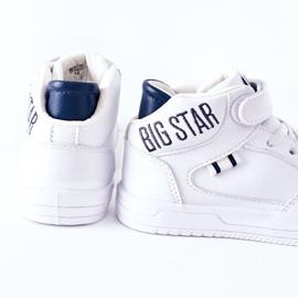 Dziecięce Sportowe Buty Big Star II374034 Biało-Granatowe białe 1