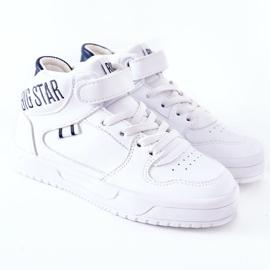 Dziecięce Sportowe Buty Big Star II374034 Biało-Granatowe białe 2