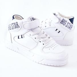 Dziecięce Sportowe Buty Big Star II374034 Biało-Granatowe białe 3