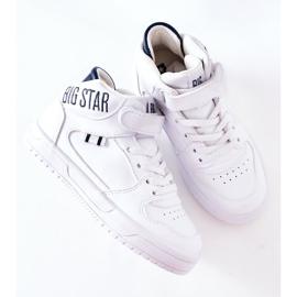 Dziecięce Sportowe Buty Big Star II374034 Biało-Granatowe białe 7