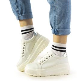 Białe sneakersy sportowe na wysokiej podeszwie Under 3