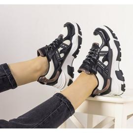 Czarne sneakersy z holograficznymi wstawkami Allisone 1