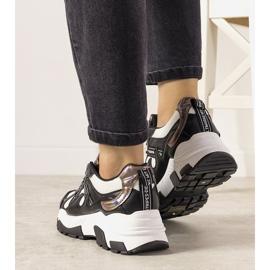 Czarne sneakersy z holograficznymi wstawkami Allisone 2