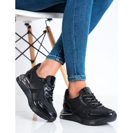 Sneakersy Z Brokatem VINCEZA czarne 3