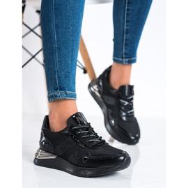 Sneakersy Z Brokatem VINCEZA czarne 1