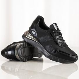 Sneakersy Z Brokatem VINCEZA czarne 2