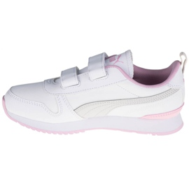 Buty Puma R78 Sl V Ps Jr 374429-04 białe różowe 1