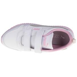 Buty Puma R78 Sl V Ps Jr 374429-04 białe różowe 2