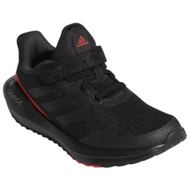 Buty do biegania adidas EQ21 Run El K Jr GZ5399 czarne 4