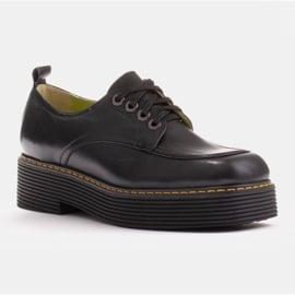Marco Shoes Mokasyny Chiara ze skóry przecieranej czarne 1
