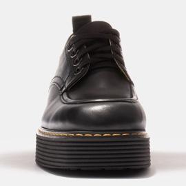 Marco Shoes Mokasyny Chiara ze skóry przecieranej czarne 2